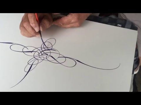 SCROLL STYLE PINSTRIPING MASTERY BY WIZARD