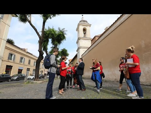 University of St. Thomas Houston students during study abroad trip in Rome, Italy