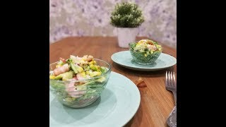Салат с авокадо и креветками I Салат на Новый год