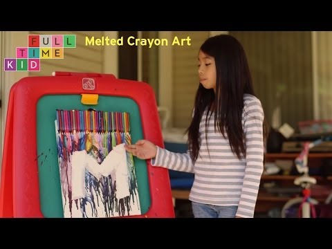 DIY Melted Crayon Art | Full-Time Kid | PBS Parents