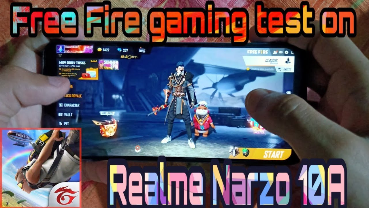 Realme Narzo 10a Free Fire Gaming Test Realme Narzo 10a Free Fire Gameplay Youtube