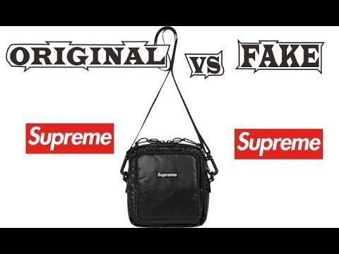 Supreme Shoulder Bag Black Original & Fake - YouTube