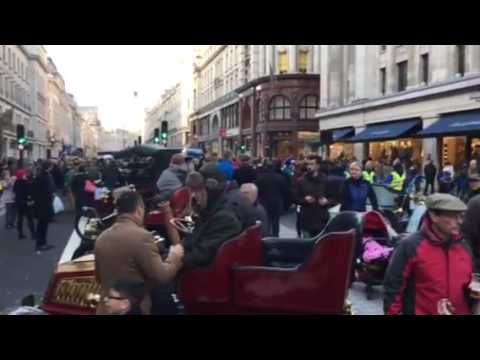 Regent Street Brass Band Celebrations for the Veteran Car Club London to Brighton 2016 Run