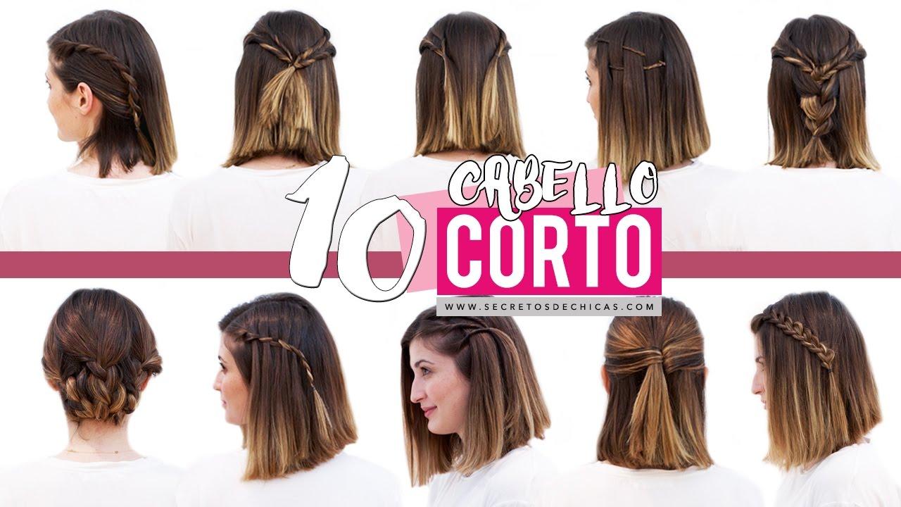 Peinados para cabello corto bonitos y faciles