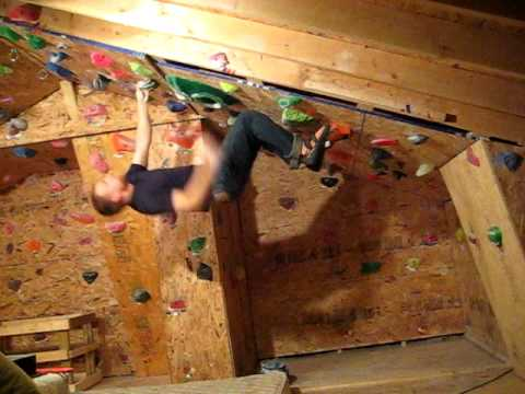Home gym bouldering whaletail youtube
