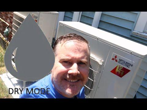 When should I use DRY Mode with my Mitsubishi Mini Split AC???
