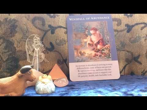 daily oracle card reading 25th December by fairy willow with Angels Of Abundance tarot