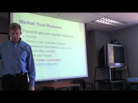 Developing an Outstanding Resume Part 4 of 6