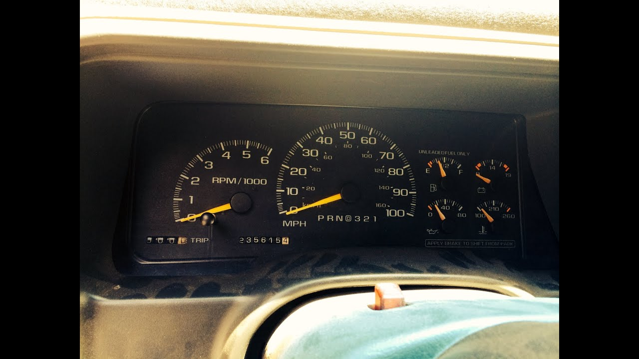 1997 Chevy Tahoe Fuel Gauge Fix (First Attempt) - YouTube