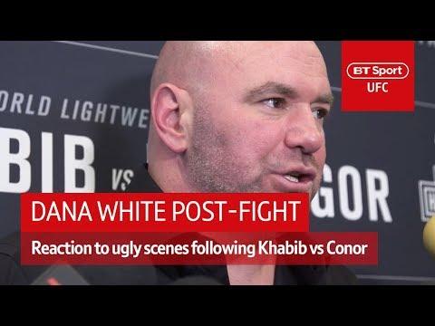 Dana White media scrum after UFC 229 post-fight incident | BT Sport