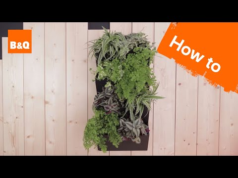 How to create a vertical planter