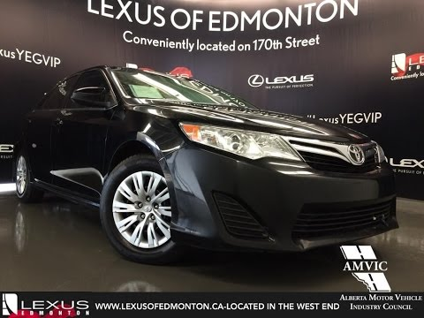 Used Black 2014 Toyota Camry I4 Auto LE   Wetaskiwin Alberta