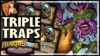 TRIPLE TRAPS?! AVOID! - Hearthstone Battlegrounds