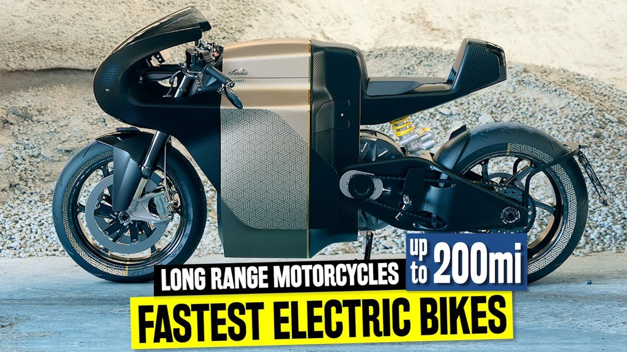 10 Fastest Electric Motorcycles W Longest Riding Range Up To 200 Miles