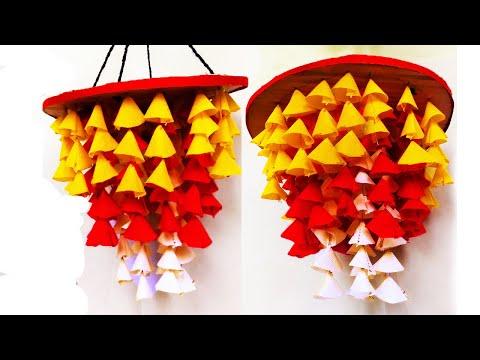 How to make jhumar with shopping bags || jhumar banane ka tarika || Waste shopping Bag Craft idea ||