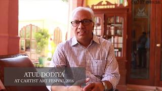 atul dodiya at cartist automobile art festival 2016