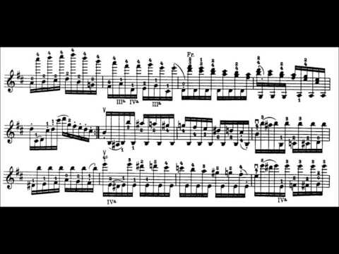 Niccolò Paganini - Caprice for Solo Violin, Op. 1 No. 2 (Sheet Music)