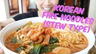 Korean Fire Noodles (Stew Type) Official First SASVlogs