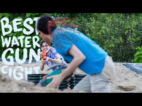 The Best Water Gun Fight Youtube