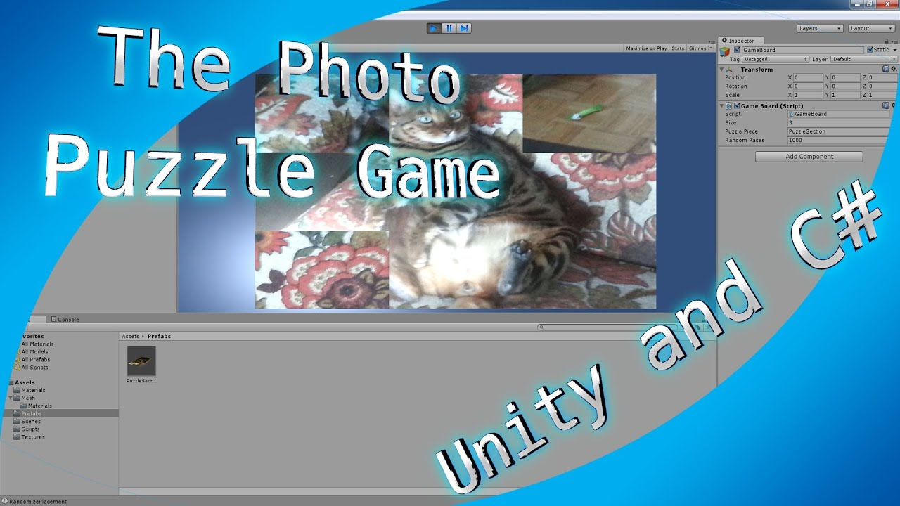 The Photo Puzzle Game, My Jigsaw Picture Puzzle Game: Made in Unity 3D and  C#