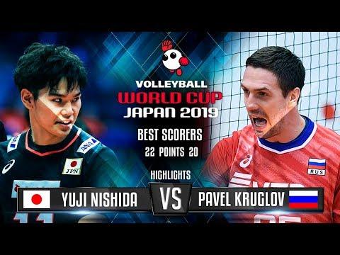 Highlights   Japan Vs. Russia   Yuji Nishida Vs. Pavel Kruglov   World Cup 2019