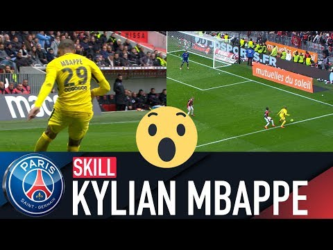 SKILL / GESTE TECHNIQUE : KYLIAN MBAPPE - NICE vs PARIS SAINT-GERMAIN