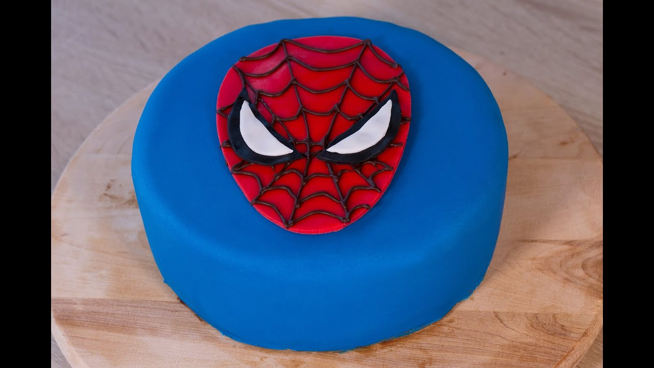 decoration gateau spiderman