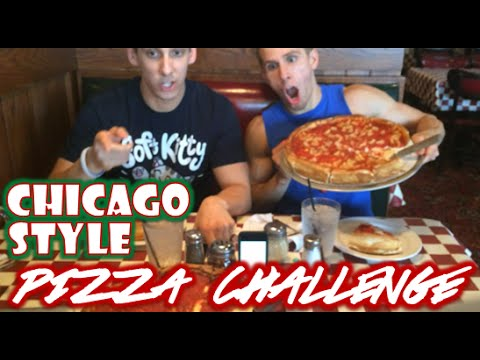LARGE Chicago style PIZZA CHALLENGE