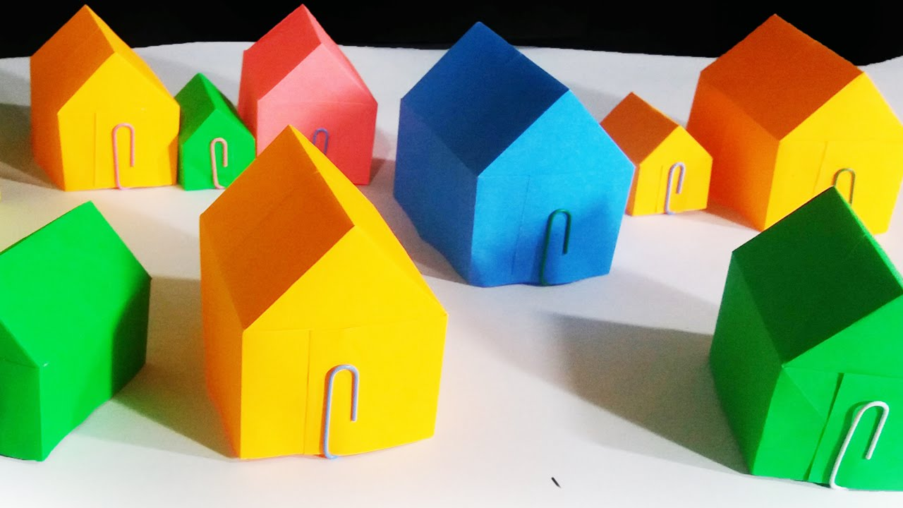 How to make a paper house youtube for How to make a house step by step