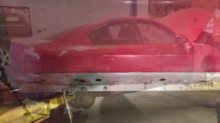 Мазда 3 полная замена порогов и ремонт пола , Mazda 3 sliekšņu maiņa un grīdas metināšana