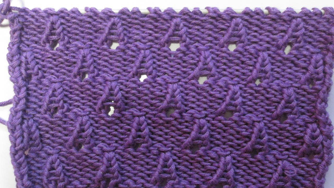 Tuto tricot apprendre a tricoter de petits cones ou cornet de glaces point ajoures facile - Point tricot facile joli ...