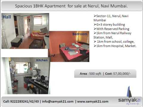 1BHK flat for sale at Nerul, Navi Mumbai.
