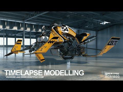 4000RC Modelling Timelapse Modo