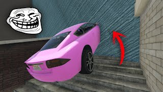 CARRERA TROLL 999.999% IMPOSIBLE!! ENTRO POR LA PARED! - GTA V ONLINE