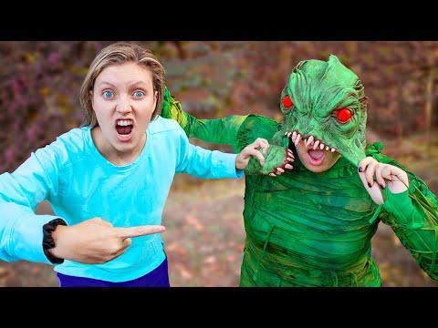 Pond Monster FACE REVEALED!! (Doing Whatever it Lands on Drop Test Challenge Unmasking)