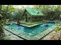 Building the Most Beautiful Bamboo Villa And Swimming Pool By Ancient Skill