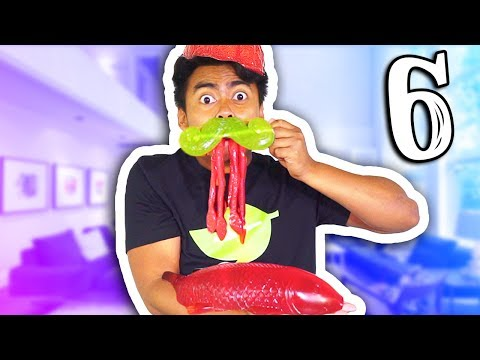 GUMMY VS REAL FOOD 6!!!