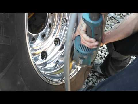 DIY how to Polish aluminum wheel Tony Metal Art