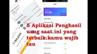 5 Aplikasi penghasil uang terbaik saat ini