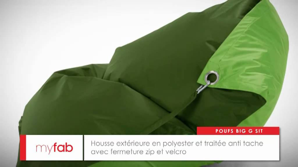 Pouf Géant Big G Sit Par Myfab Youtube