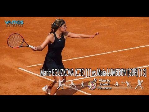 Marie BOUZKOVA (CZE) [1] vs Maia LUMSDEN (GBR) [13] - Abierto Juvenil Mexicano ITF - 3rd Round
