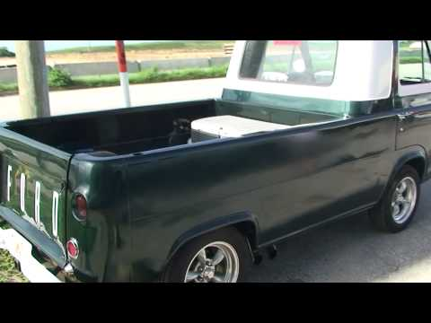 ANTIQUE 1963 FORD ECONOLINE PICKUP TRUCK RUSTFREE IN FLORIDA IN SONY HD