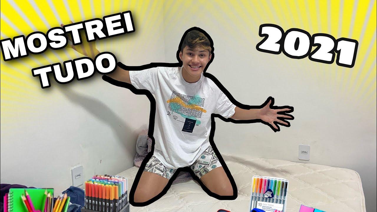 COMPRANDO MEU MATERIAL ESCOLAR 2021+ MOSTREI TUDO!!(Luan Alencar)
