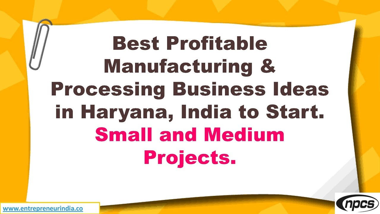 Business Ideas In India Haryana