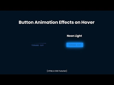 Neon Light Button Animation Effects on Hover | HTML & CSS Tutorial thumbnail