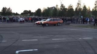 #taikosdragai: Old VW Passat vs Ferrari 458 Italia @Nemunring