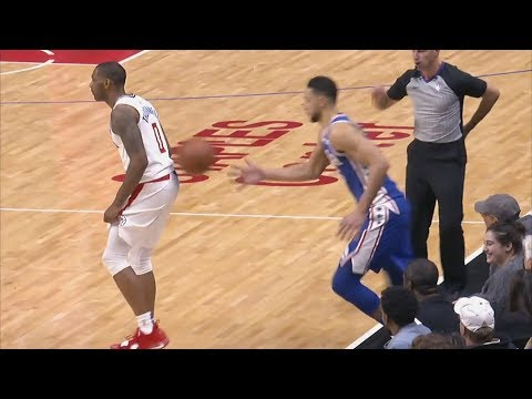 Butler, Bradley Ejected! Simmons Inbound Off Back! 2018-19 NBA Season