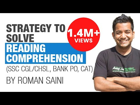 (Hindi) Tricks, Strategy to solve reading comprehension: Roman Saini (SSC CGL, Bank PO/Clerk, CAT)