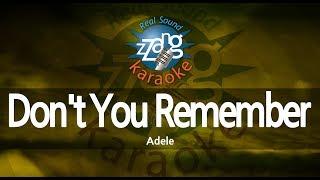 Video Adele-Don't You Remember (-1key) (MR) (Karaoke Version) [ZZang KARAOKE] download MP3, MP4, WEBM, AVI, FLV April 2018