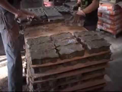 Производство брусчатки (Видео)